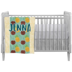 Pineapples and Coconuts Crib Comforter / Quilt (Personalized)