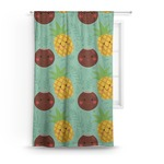Pineapples and Coconuts Curtain (Personalized)