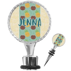 Pineapples and Coconuts Wine Bottle Stopper (Personalized)