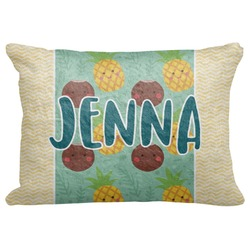 "Pineapples and Coconuts Decorative Baby Pillowcase - 16""x12"" (Personalized)"