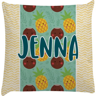 Pineapples and Coconuts Decorative Pillow Case (Personalized)