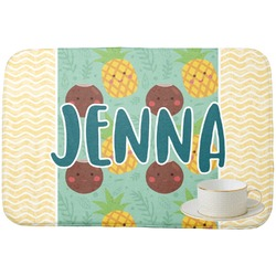 Pineapples and Coconuts Dish Drying Mat (Personalized)
