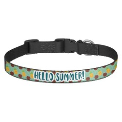 Pineapples and Coconuts Dog Collar - Multiple Sizes (Personalized)