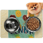 Pineapples and Coconuts Dog Food Mat - Small w/ Name or Text