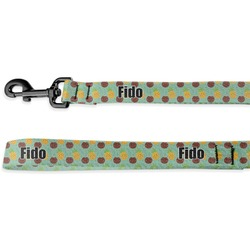 Pineapples and Coconuts Deluxe Dog Leash (Personalized)