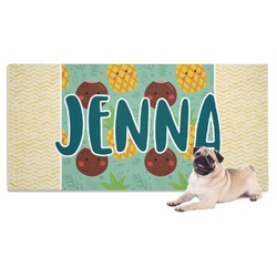 Pineapples and Coconuts Pet Towel (Personalized)