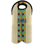Pineapples and Coconuts Wine Tote Bag (2 Bottles) (Personalized)