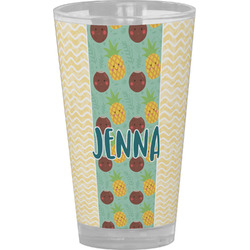 Pineapples and Coconuts Drinking / Pint Glass (Personalized)