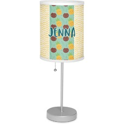 """Pineapples and Coconuts 7"""" Drum Lamp with Shade (Personalized)"""