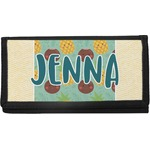 Pineapples and Coconuts Canvas Checkbook Cover (Personalized)