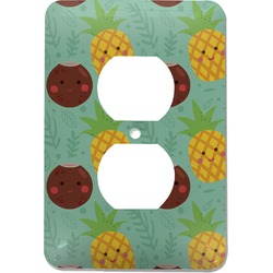 Pineapples and Coconuts Electric Outlet Plate (Personalized)