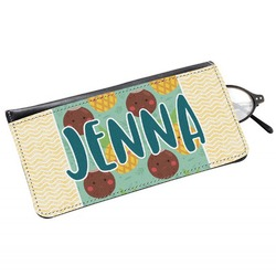 Pineapples and Coconuts Genuine Leather Eyeglass Case (Personalized)