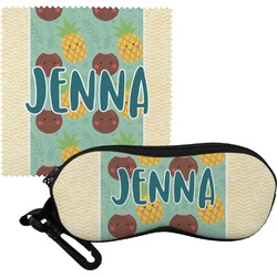 Pineapples and Coconuts Eyeglass Case & Cloth (Personalized)