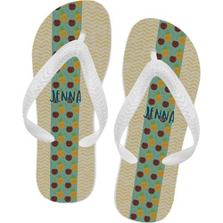 Pineapples and Coconuts Flip Flops (Personalized)