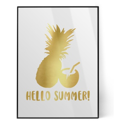 Pineapples and Coconuts Foil Print (Personalized)