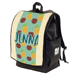 Pineapples and Coconuts Backpack w/ Front Flap  (Personalized)