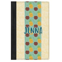 Pineapples and Coconuts Genuine Leather Passport Cover (Personalized)