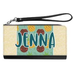 Pineapples and Coconuts Genuine Leather Smartphone Wrist Wallet (Personalized)