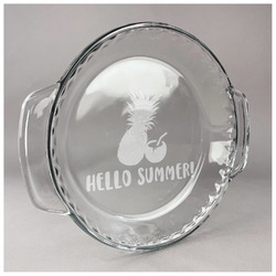 Pineapples and Coconuts Glass Pie Dish - 9.5in Round (Personalized)