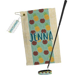 Pineapples and Coconuts Golf Towel Gift Set (Personalized)