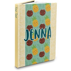 Pineapples and Coconuts Hardbound Journal (Personalized)