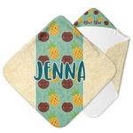 Pineapples and Coconuts Hooded Baby Towel (Personalized)