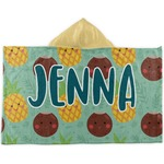 Pineapples and Coconuts Kids Hooded Towel (Personalized)