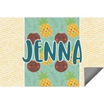 Pineapples and Coconuts Indoor / Outdoor Rug (Personalized)