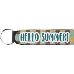 Pineapples and Coconuts Neoprene Keychain Fob (Personalized)