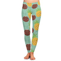 Pineapples and Coconuts Ladies Leggings (Personalized)