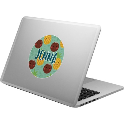 Pineapples and Coconuts Laptop Decal (Personalized)