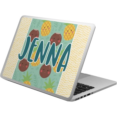 Pineapples and Coconuts Laptop Skin - Custom Sized (Personalized)