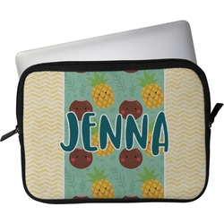 """Pineapples and Coconuts Laptop Sleeve / Case - 15"""" (Personalized)"""