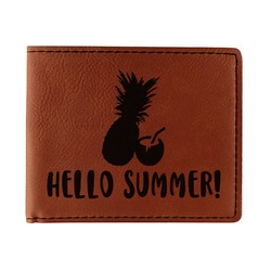 Pineapples and Coconuts Leatherette Bifold Wallet (Personalized)