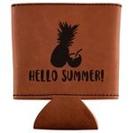 Pineapples and Coconuts Leatherette Can Sleeve (Personalized)