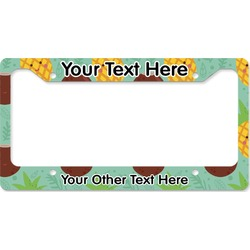 Pineapples and Coconuts License Plate Frame (Personalized)