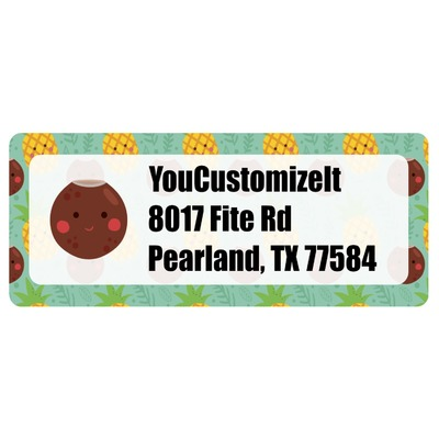 Pineapples and Coconuts Return Address Labels (Personalized)