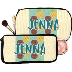 Pineapples and Coconuts Makeup / Cosmetic Bag (Personalized)