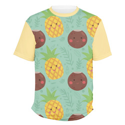 Pineapples and Coconuts Men's Crew T-Shirt (Personalized)