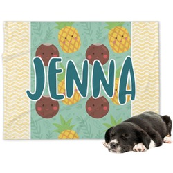 Pineapples and Coconuts Minky Dog Blanket (Personalized)