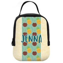 Pineapples and Coconuts Neoprene Lunch Tote (Personalized)
