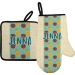 Pineapples and Coconuts Oven Mitt & Pot Holder (Personalized)
