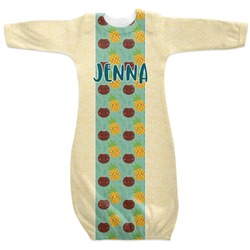 Pineapples and Coconuts Newborn Gown (Personalized)