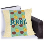 Pineapples and Coconuts Outdoor Pillow (Personalized)