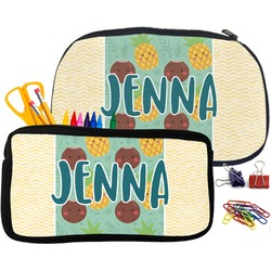 Pineapples and Coconuts Pencil / School Supplies Bag (Personalized)