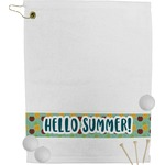 Pineapples and Coconuts Golf Towel (Personalized)