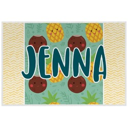 Pineapples and Coconuts Placemat (Laminated) (Personalized)
