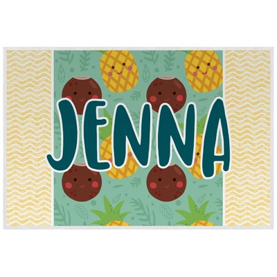 Pineapples and Coconuts Laminated Placemat w/ Name or Text