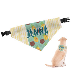 Pineapples and Coconuts Dog Bandana (Personalized)