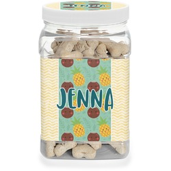 Pineapples and Coconuts Pet Treat Jar (Personalized)